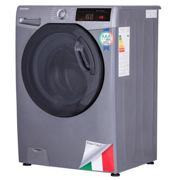 ماشین لباسشویی زیرووات 8 کیلوگرم OZ-1384 رنگ نقره ای